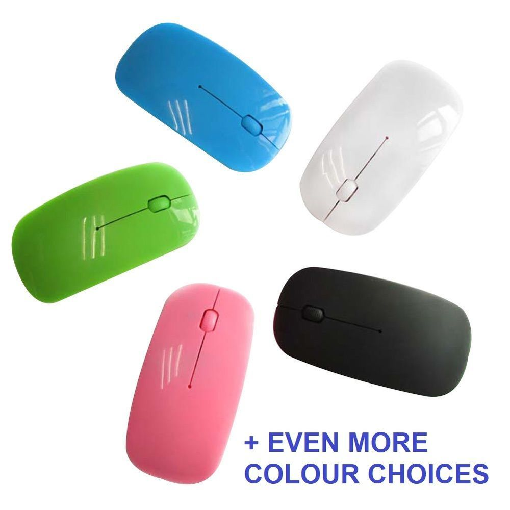 2 4ghz Usb Wireless Optical Slimline Mouse For Pc Laptop Pick Your Own Colour Unbrandedgeneric Pc Laptop Pc Mouse Laptop Mouse