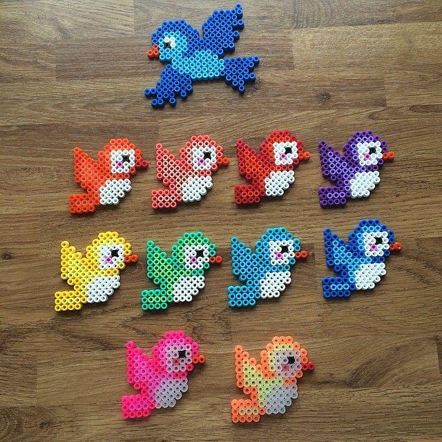rainbow birds hama beads by mediegiraf perler beads. Black Bedroom Furniture Sets. Home Design Ideas