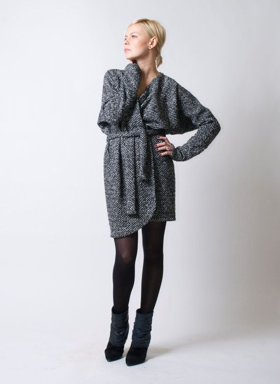 Belted Open Long Cardigan / Sweater Dress / Oversize Sweater ...