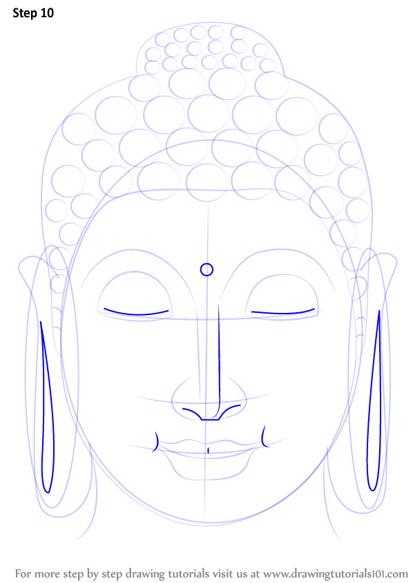 Learn How To Draw Buddha Face Buddhism Step By Step Drawing