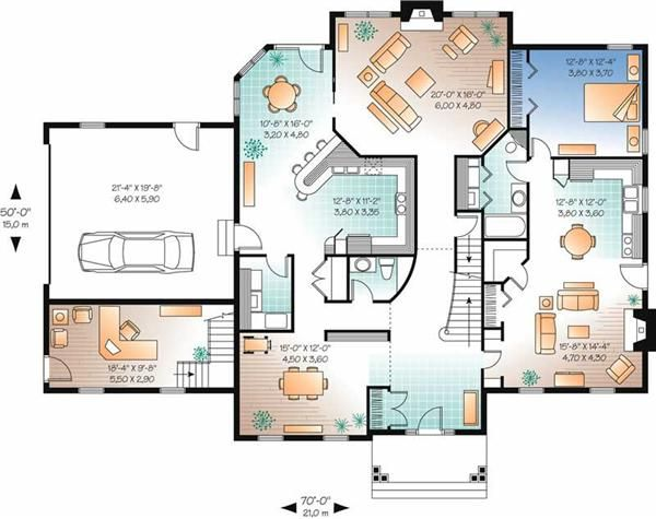 Contemporary Country Home With 4 Bedrooms 4183 Sq Ft House Plan 126 1685 Garage House Plans Colonial House Plans House Plans