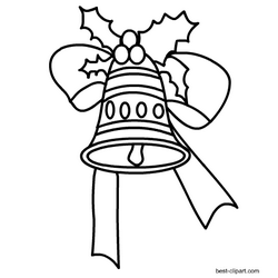 21+ Christmas bells black and white clipart information