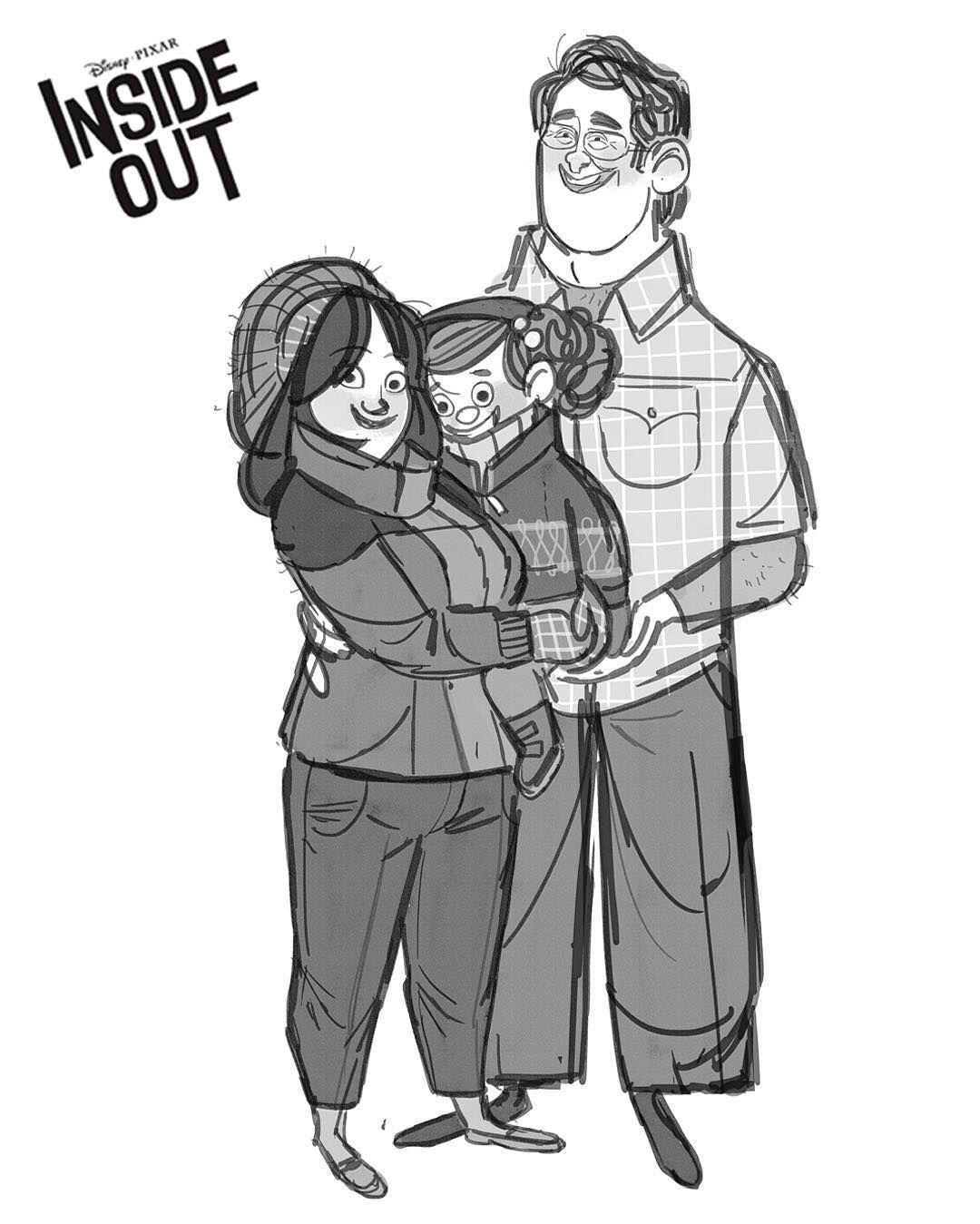 Family portrait! #happyeaster #minnesota #family #together #love #pixar #insideout #animation #film #characterdesign #sketchartist #design #art #illustration #concept #womeninanimation (at Pixar)