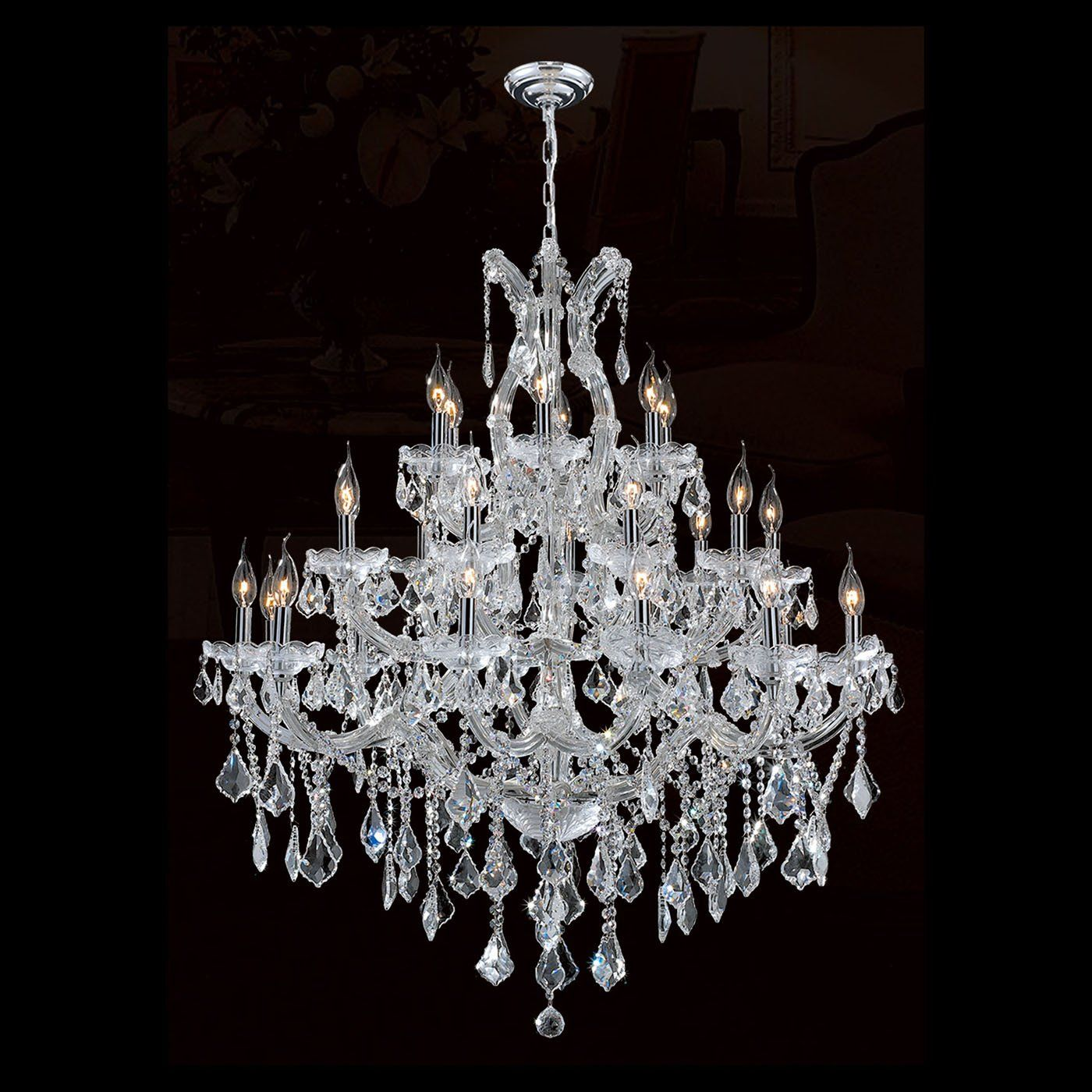 Worldwide Lighting W83003c38 30 Light Maria Theresa Large Chandelier