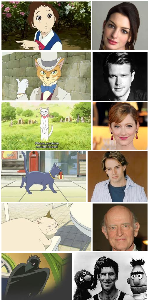 'The Cat Returns' characters & voice actors Anime