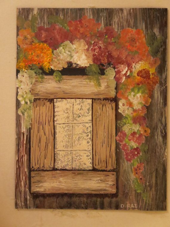 New  Cabin Window by PaintingsbyDraz on Etsy