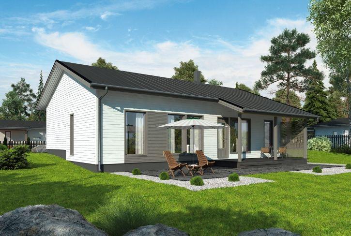 Luonnollista tasapainoa – Viljami: 126 m², 3 makuuhuonetta, 1-kerroksinen omakotitalo