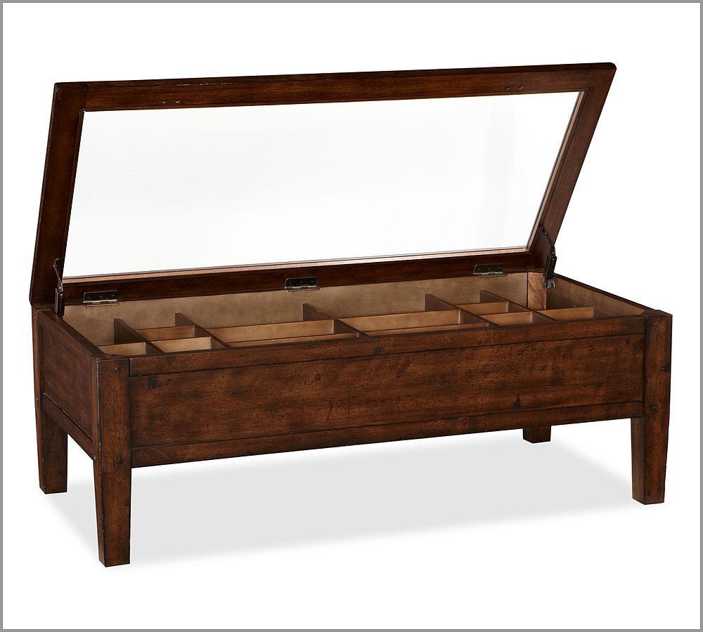 Pottery Barn Townsend Shadow Box Coffee Table 499