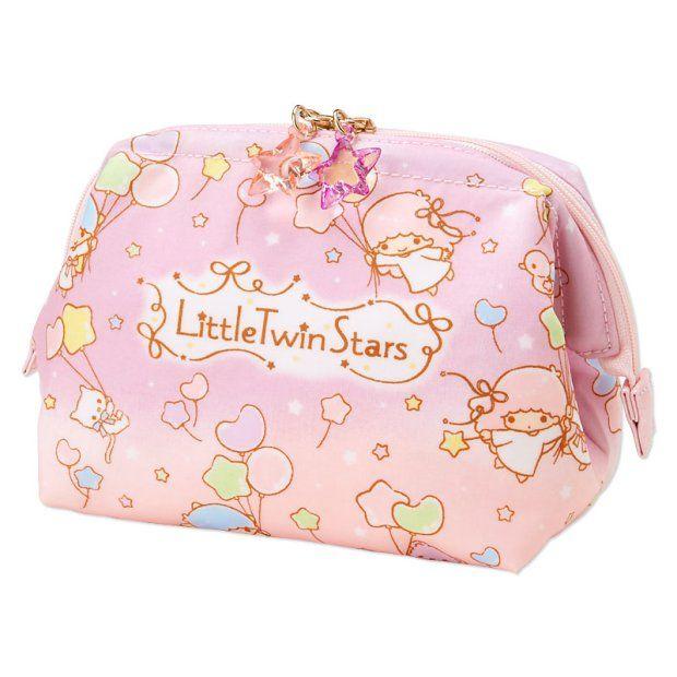 Sanrio Character Kitty My Melody Little Twin Stars PVC Zipper Bag Case JAPAN