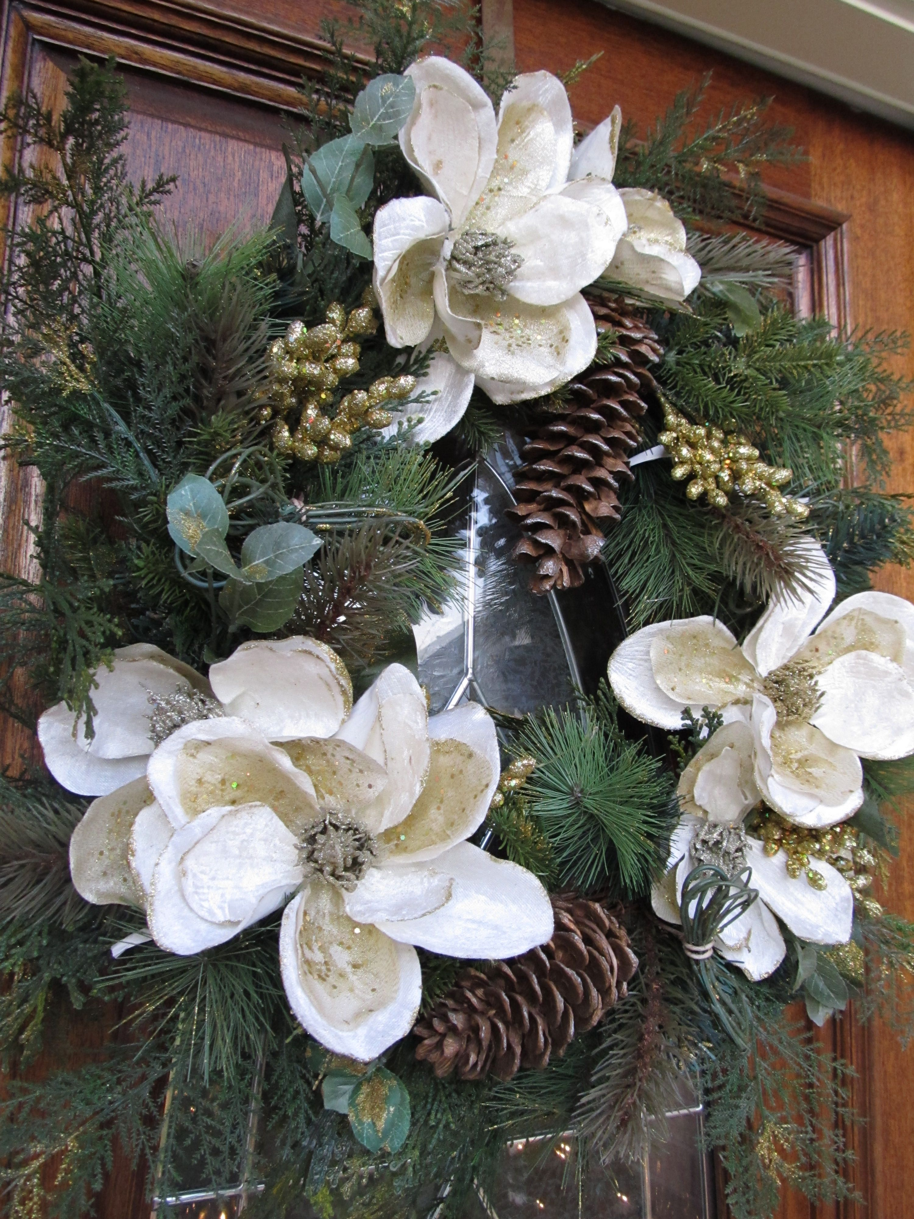 magnolia christmas wreath - Magnolia Christmas Decor
