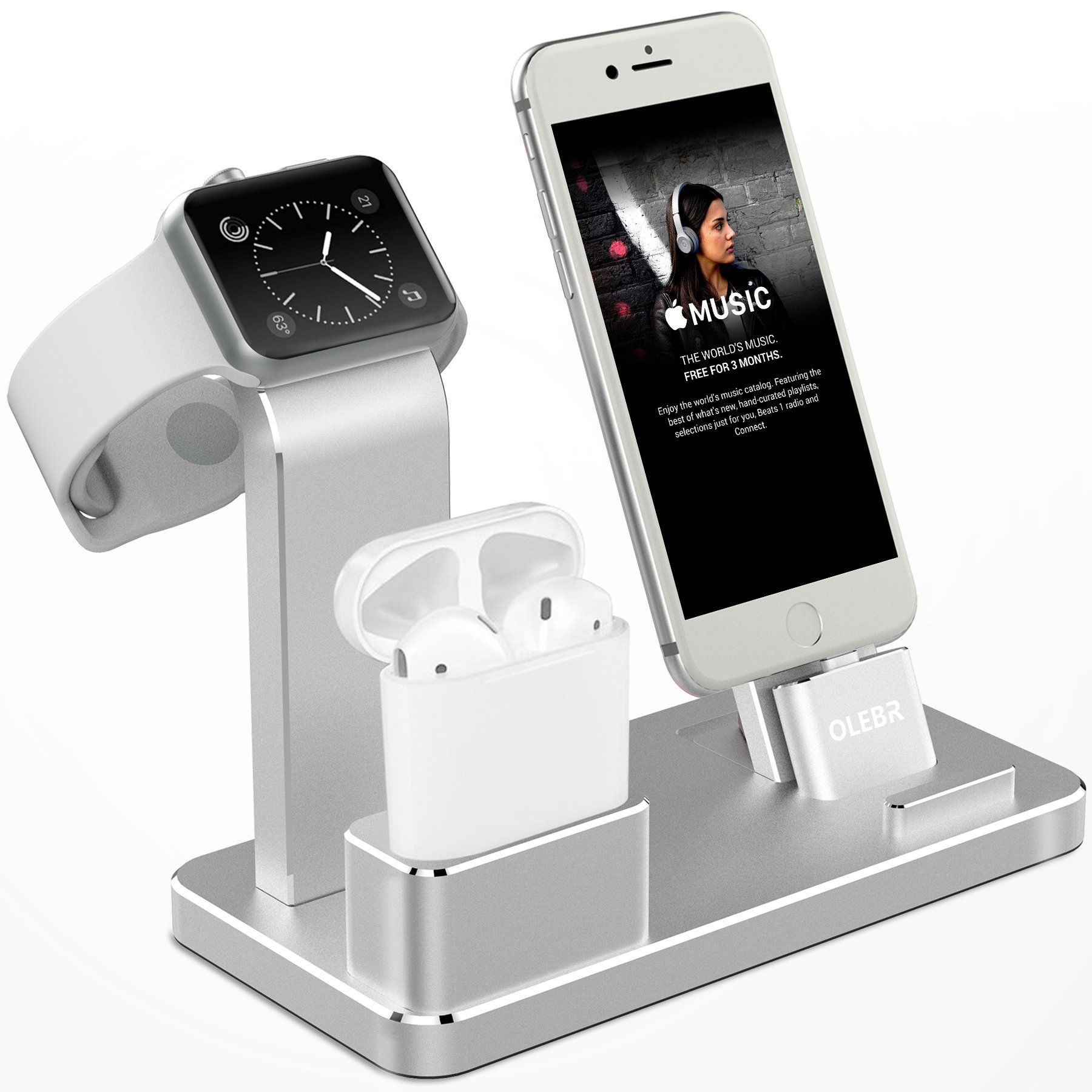 Amazon Com Olebr Apple Watch Stand Aluminum Apple Watch Charging