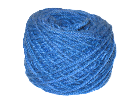 Flag Blue Hand Dyed Rug Yarn Made With