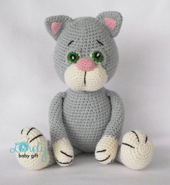 Se trata del ganchillo del patrón y no el juguete kitty terminado ...