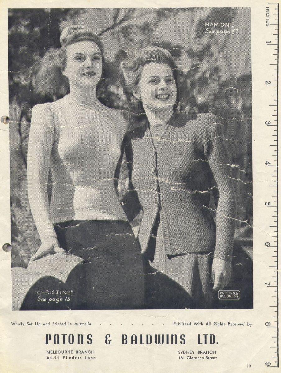Patons pattern   KNITTING   Pinterest   Vintage knitting, Patterns ...