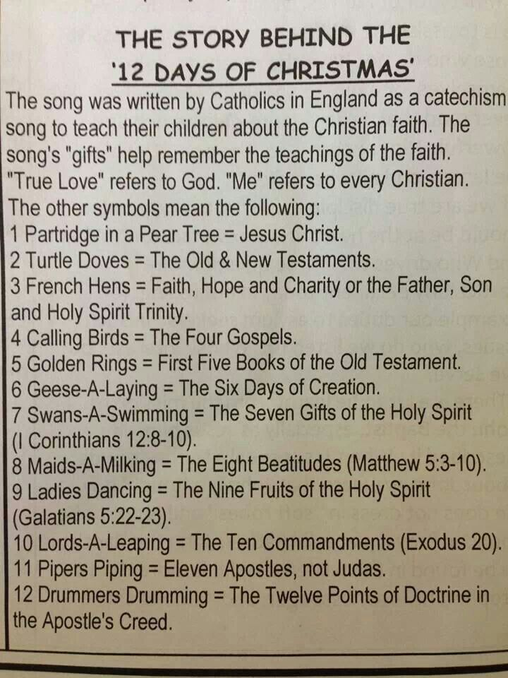 12 days of christmas meaning leading to epiphany - 12 Days Of Christmas Christian Version