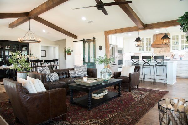 Get This Look Fixer Upper Big Country House Living Dining Rooms