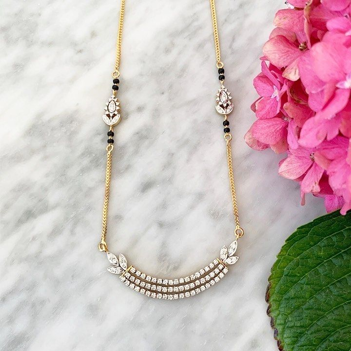 Mangalsutra 😍 in 2020 | Black beaded jewelry, Gold ...
