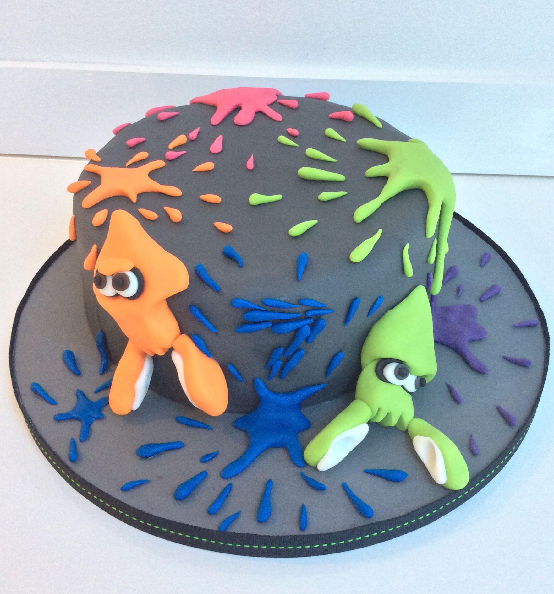 Splatoon Cake In 2019 6th Birthday Cakes Nintendo Party