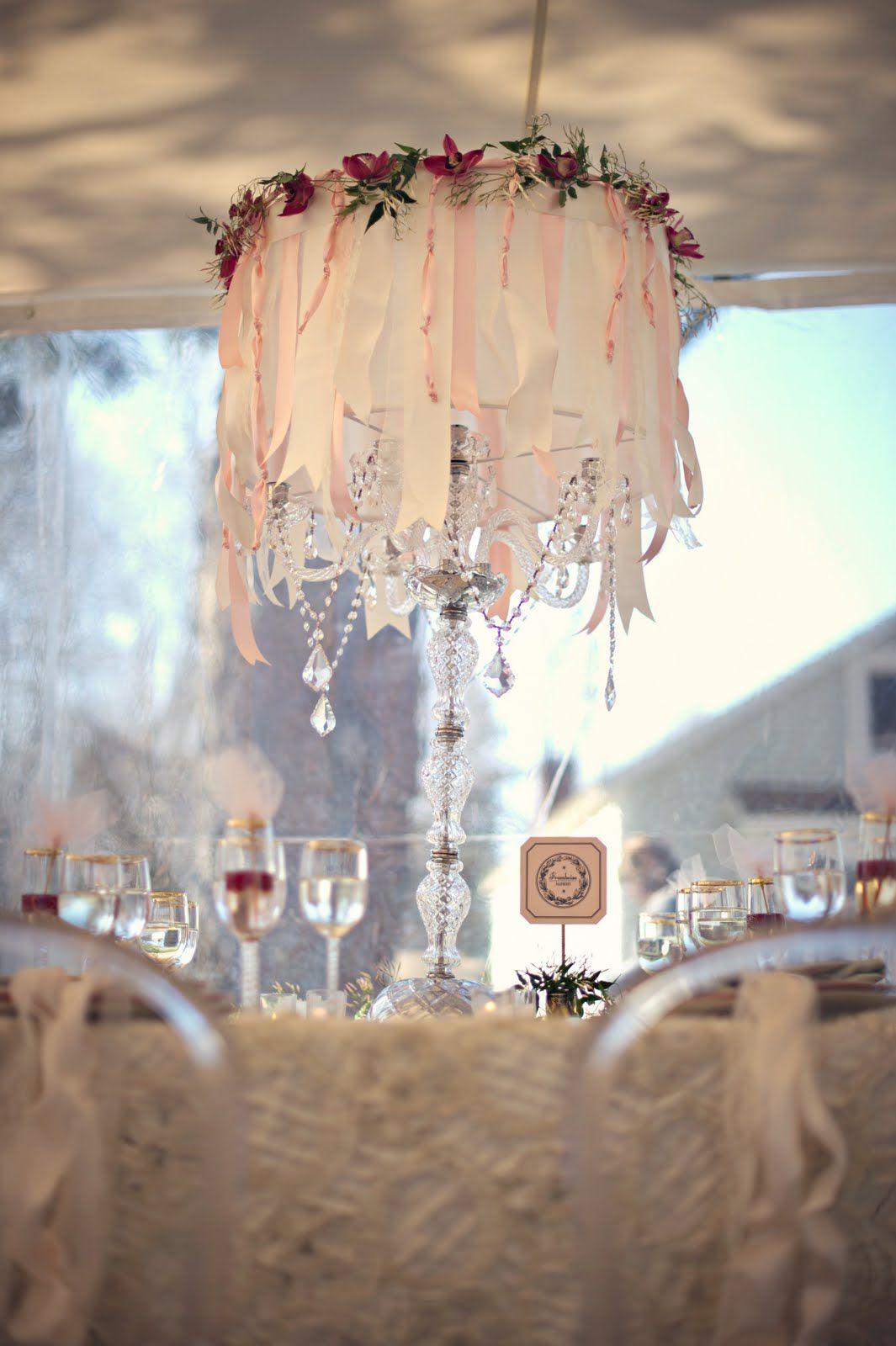 we ❤ this!  moncheribridals.com  #weddingtablescape #weddinghangingdecor