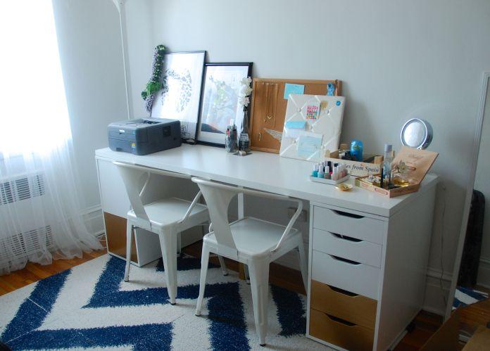 Our study. IKEA Alex and Linnmon table, FLOR Sophistikat ...