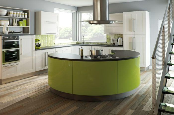 moderne küchen grün beige und grau machen eine schöne kombination in ...
