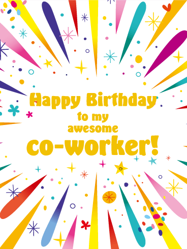Time To Celebrate Happy Birthday Card For Co Worker Birthday Greeting Cards By Davia Happy Birthday Wishes Cards Happy Birthday Quotes For Friends Happy Birthday Coworker