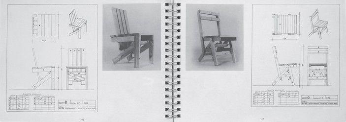 Autoprogettazione by Enzo Mari Spreads from 2004 facsimile edition published by Edizioni Corraini