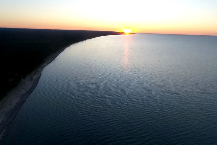 Sights And Sounds Drone Edition Lake Superior Sunset