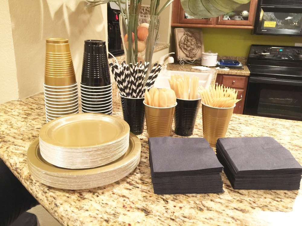 Black White And Gold Birthday Party Ideas Gold Birthday Party