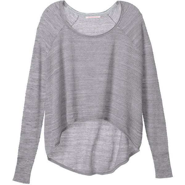 Victoria's Secret Drapey Swing Sweater found on Polyvore featuring ...