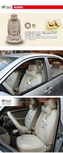 New Snoopy Car Seat Covers Accessories Set 19PCS TL 301A