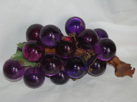 Grapes It Seems Like Every Home Had Some Of These Lucite Grapes Sitting Around My Aunt And Uncle Even Had Some That Were Grapes Grape Bunch Vintage Memory