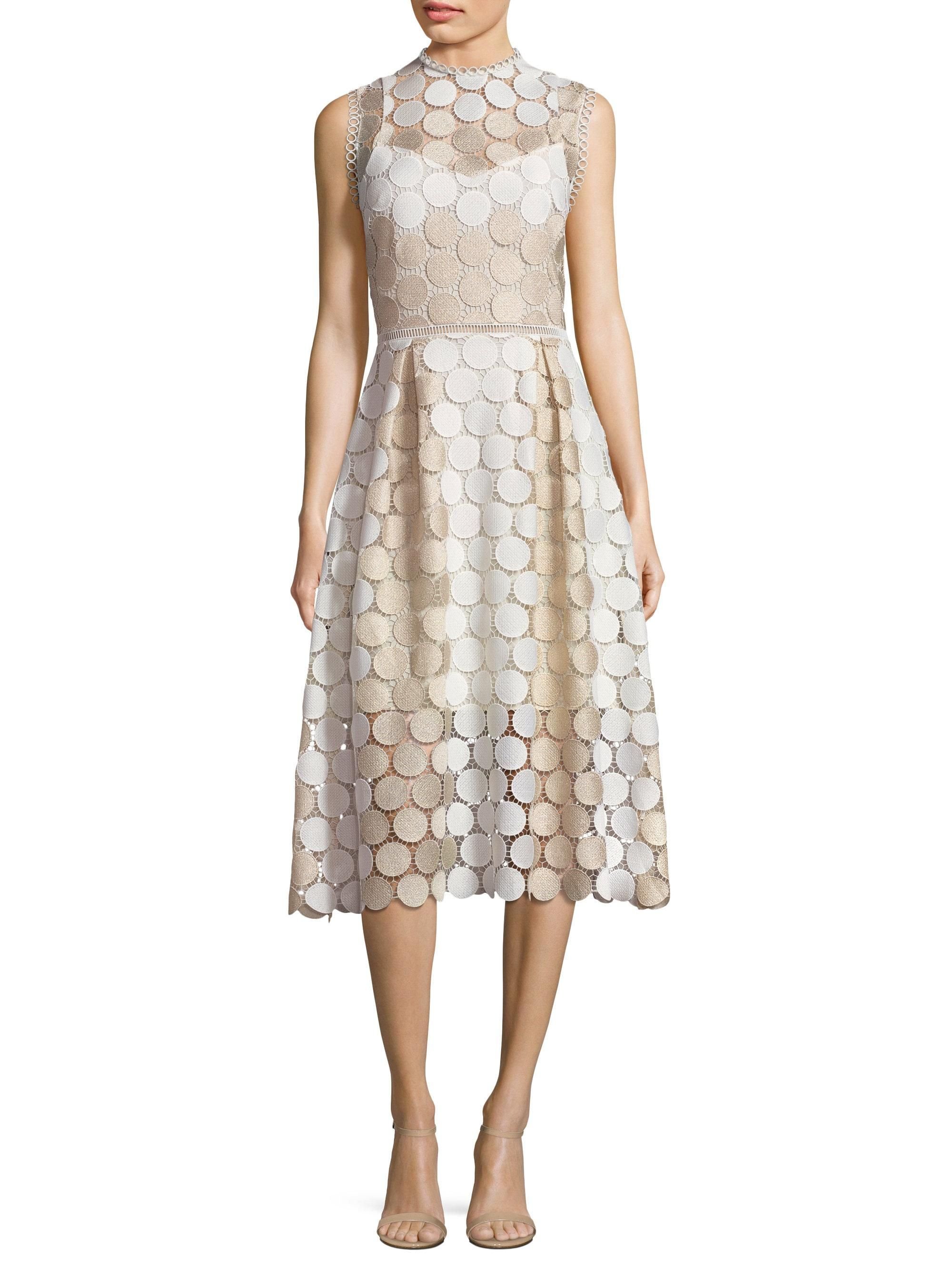 Image result for shoshanna circle gold lace dress in my closet