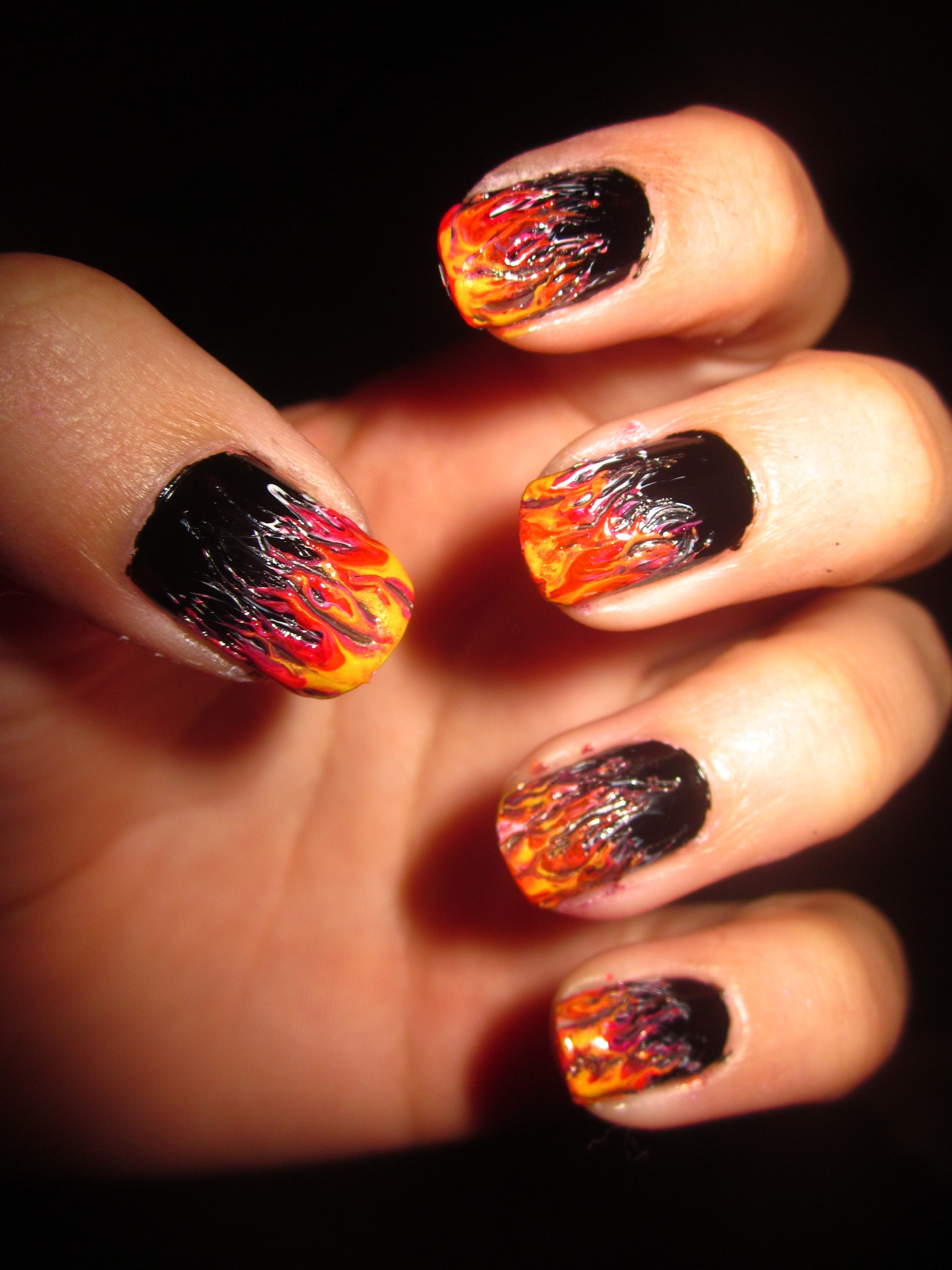 """Katniss Everdeen """"Girl On Fire"""" Nails"""