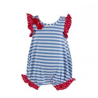 Sailor Stripe Bubble Romper by Flap Happy