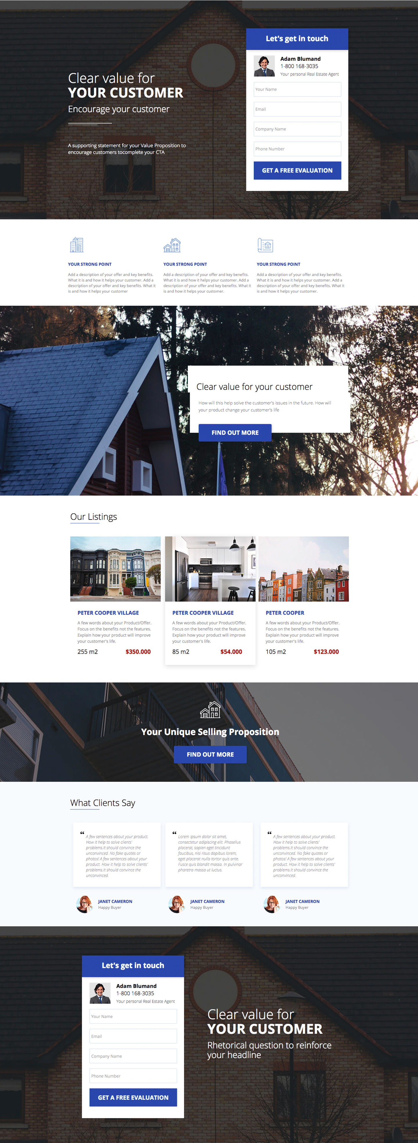 Real Estate Selling Landing Page Template