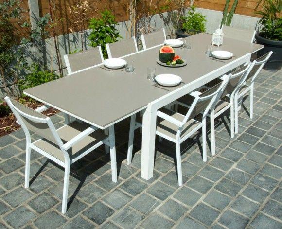 Salon de jardin Résidence Residence Alton alu et fibre ciment 990 ...