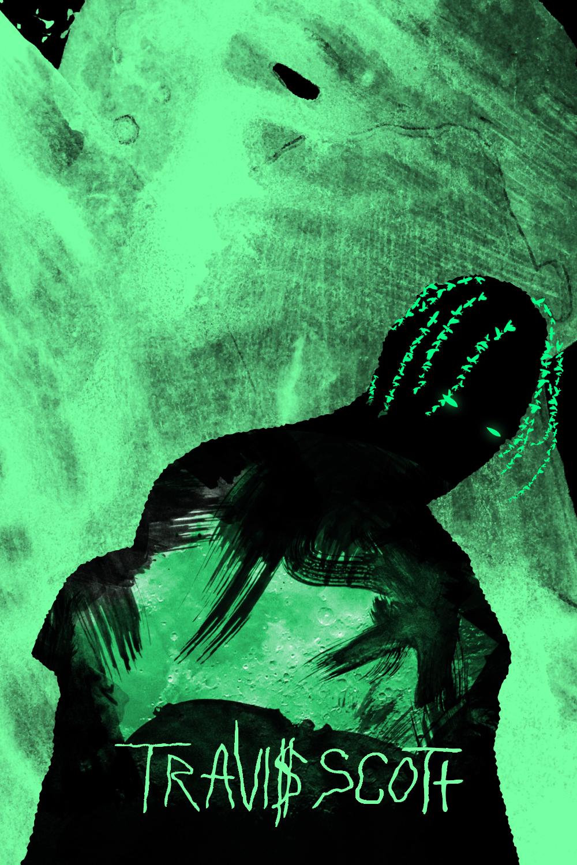 Travis Scott Aesthetic Green