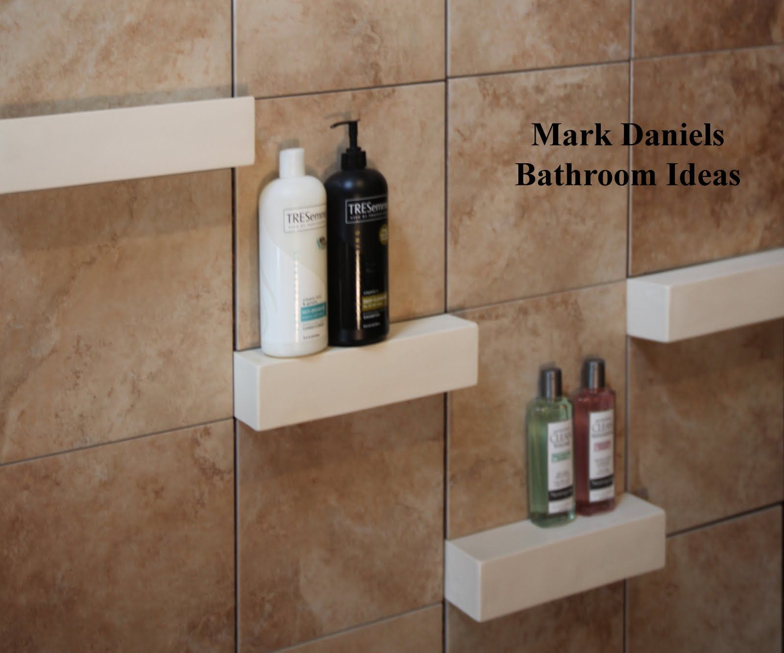 Bathroom Remodeling Design Ideas Tile Shower Shelves