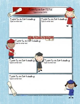 Graduation Newsletter Template From Edlah Preschool Resources On