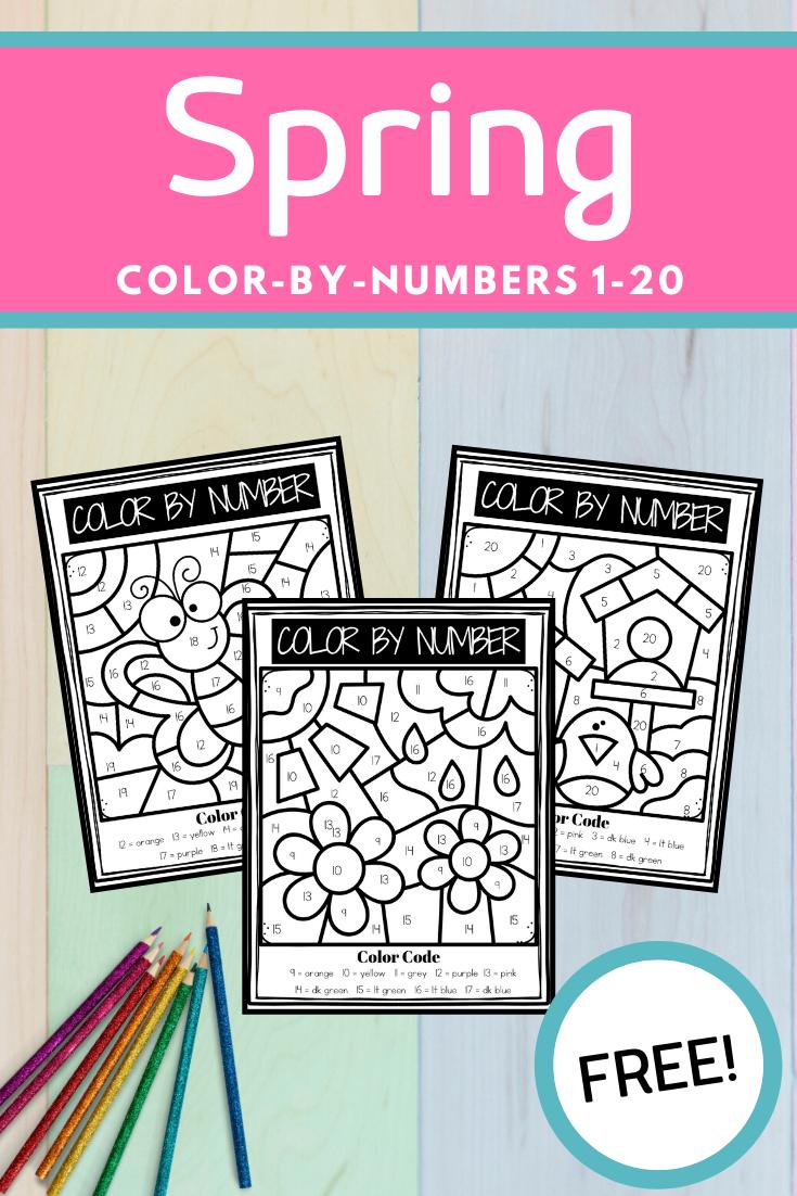 Spring Color By Number Printables | Printable numbers ...