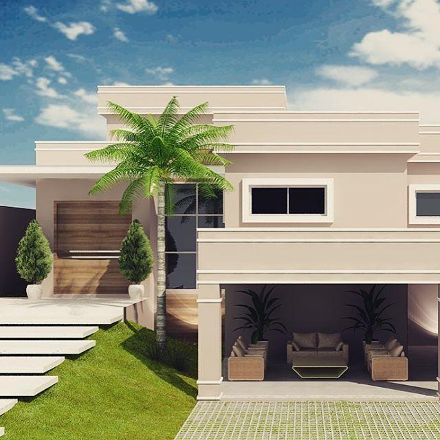 Fachada com toque clássico e moderno. #fachadasclasicas #projetopatriciaalberton #acervo