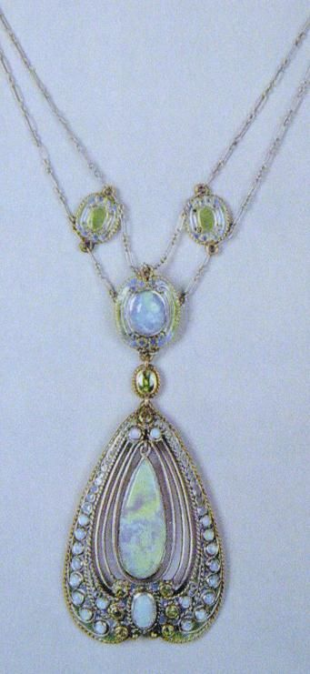 A Tiffany & Co. rainbow Opal necklace.