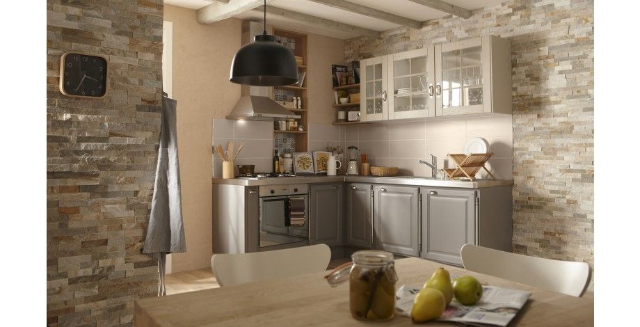 Plaquette de parement edna cuisine pinterest - Credence parement cuisine ...