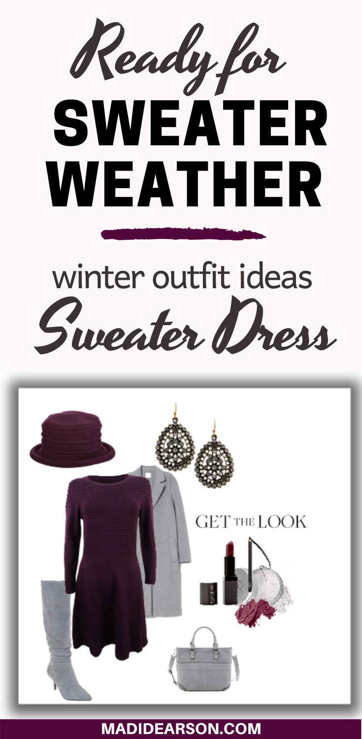 One of my favorite winter wardrobe items is the sweater dress, it comes in different styles that can fit any situation and setting, it can work for all body types and most importantly - it keeps you warm and cozy. Click here for outfit ideas and 3 different styles. #stylingtips #fashion
