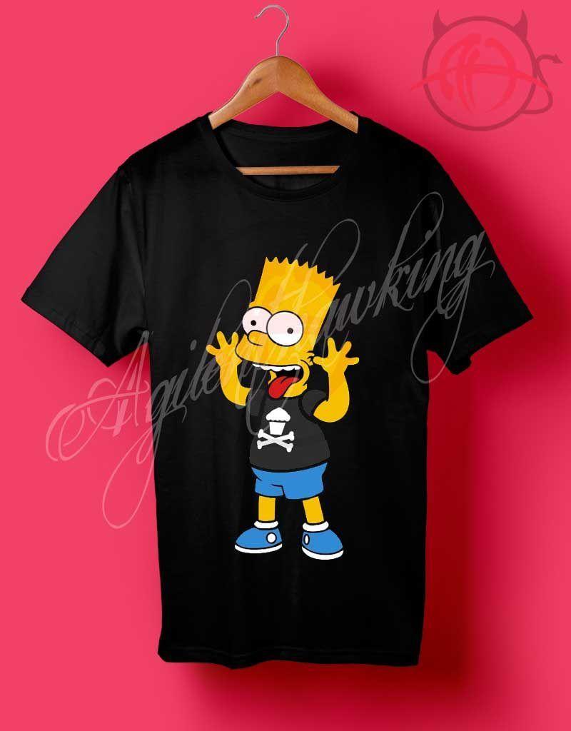 f4c51120765e Bart Simpson Kids T Shirt for Women's or Men's - Agilenthawking.com ...