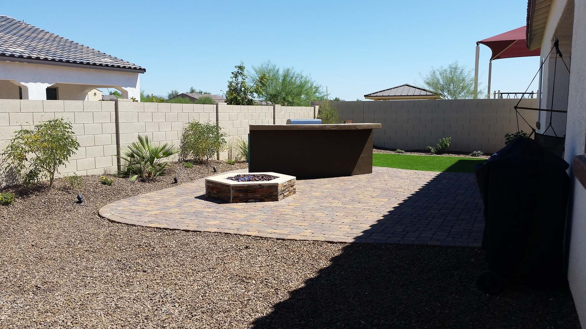 Arizona Custom Desert Landscape Design With Desert Plants Rock - Desert backyard landscaping ideas