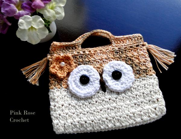 Bolsinha Crochet Coruja