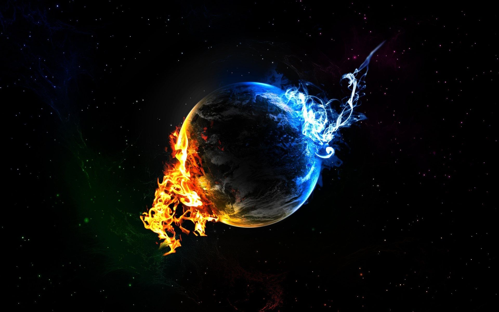 Fire And Ice Fire And Ice Fire And Ice Wallpaper Desktop Wallpaper