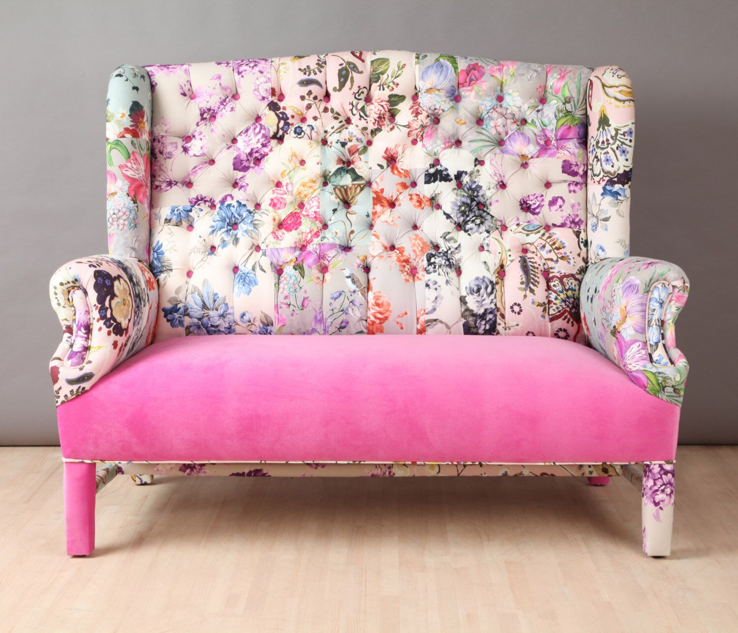pink sofa browse uk lowes covers pin by lee newell on lounge chairs patchwork furniture candy wing namedesignstudio etsy https www